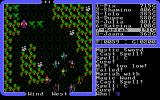 Ultima IV: Quest of the Avatar DOS You can suddenly meet tougher enemies on the overworld. Look, there are dragons and some weird monster with them...