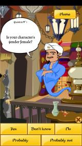Akinator Android Answering the questions
