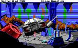Space Quest III: The Pirates of Pestulon DOS Roger Wilco in a big pile of garbage