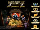 Heroes of Might and Magic IV: The Gathering Storm Windows Gathering Storm Menu