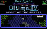 Ultima IV: Quest of the Avatar DOS Title screen