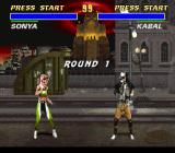Mortal Kombat 3 SNES Starting the battle on the street