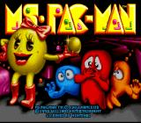 Ms. Pac-Man SNES Title screen
