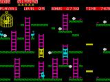 Chuckie Egg ZX Spectrum Use ladders to going up or down