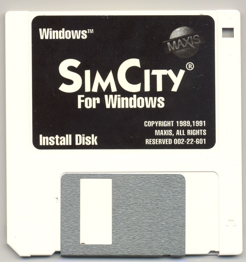 SimCity Windows 3.x Media Disk 1/1