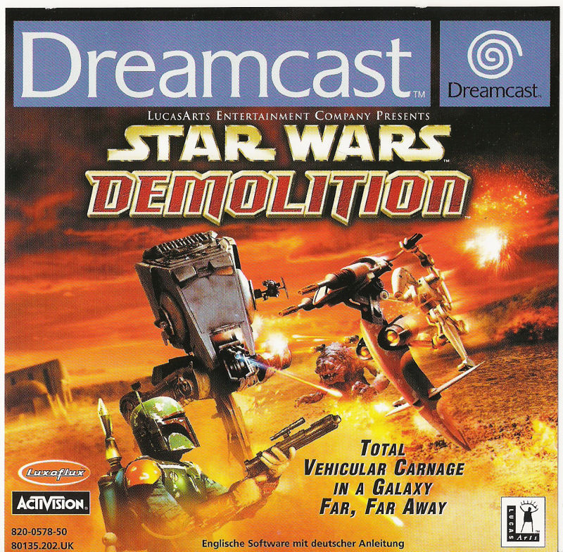 Star Wars: Demolition Dreamcast Front Cover