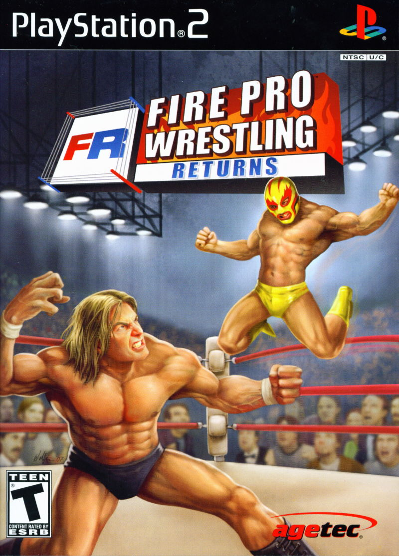Fire Pro Wrestling Returns PlayStation 2 Front Cover