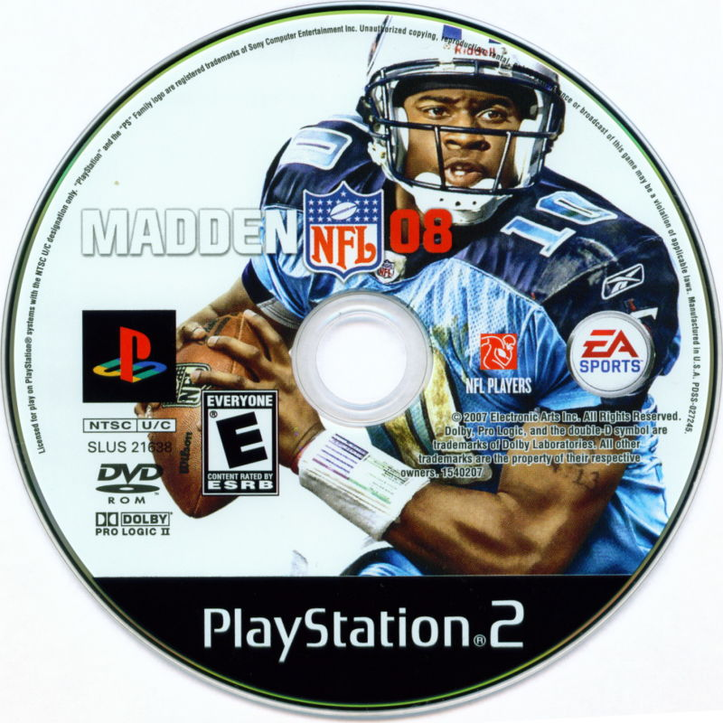 Madden NFL 08 PlayStation 2 Media
