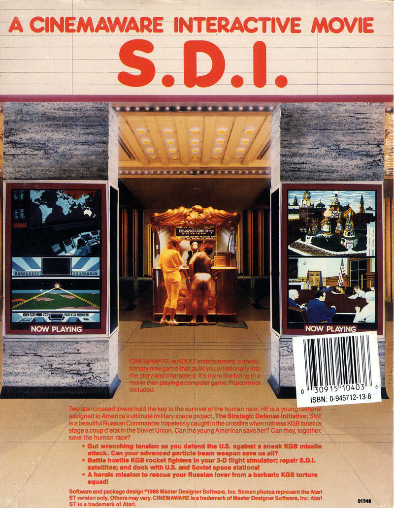 S.D.I. DOS Back Cover