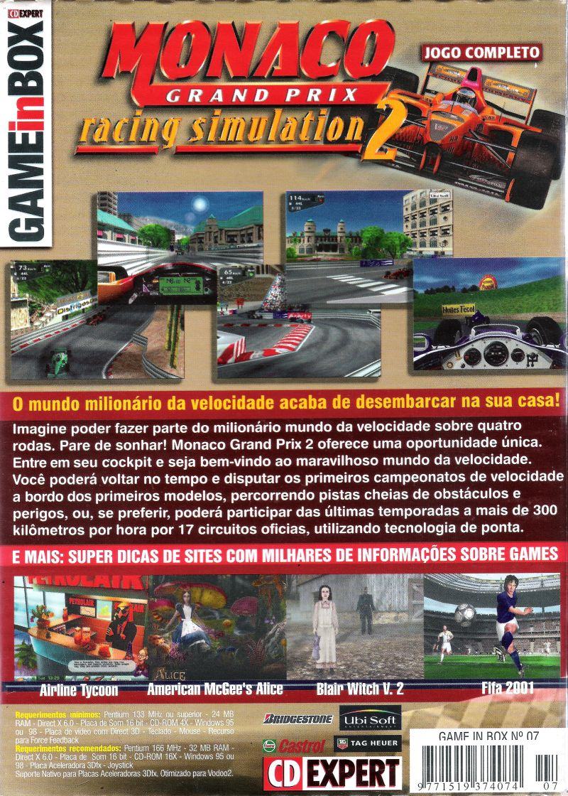 Monaco Grand Prix Racing Simulation 2 Windows Back Cover