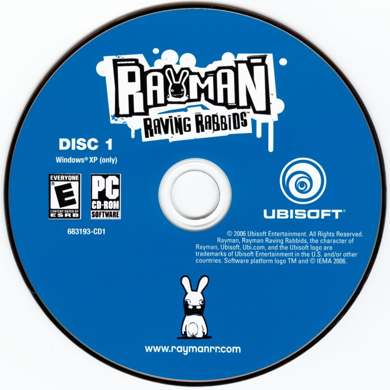 Rayman Raving Rabbids Windows Media Disc 1
