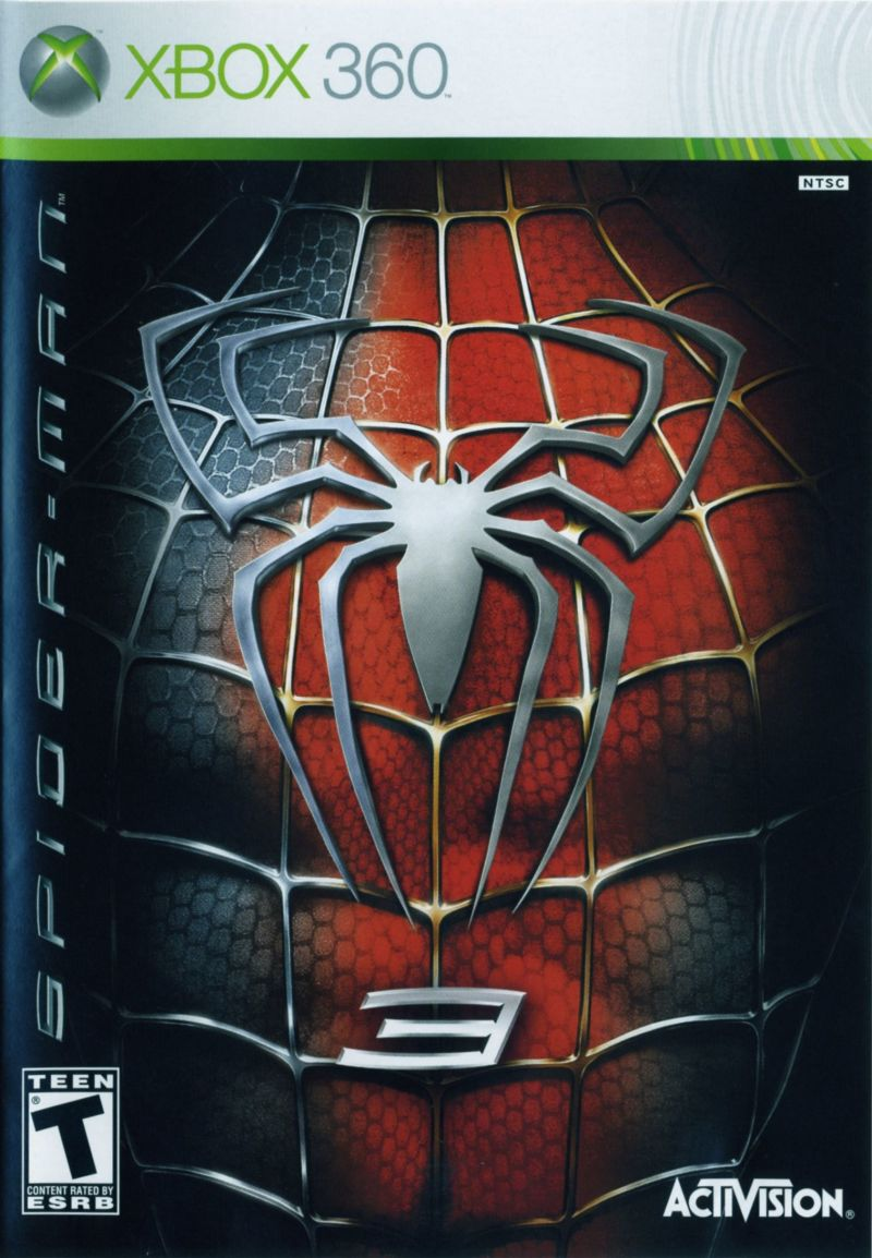 Spider-Man 3 (2007) Xbox 360 box cover art - MobyGames