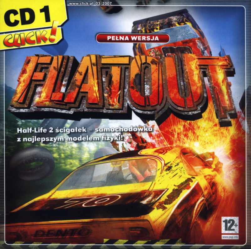 FlatOut Windows Front Cover Disc 1