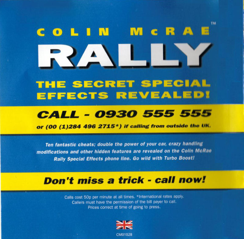 Colin McRae Rally Windows Other Jewel Case - Inside
