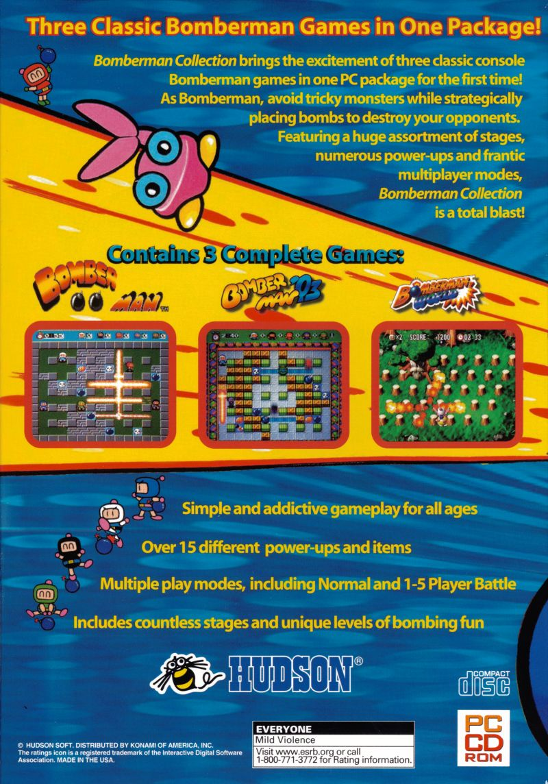 Bomberman Collection Windows Back Cover