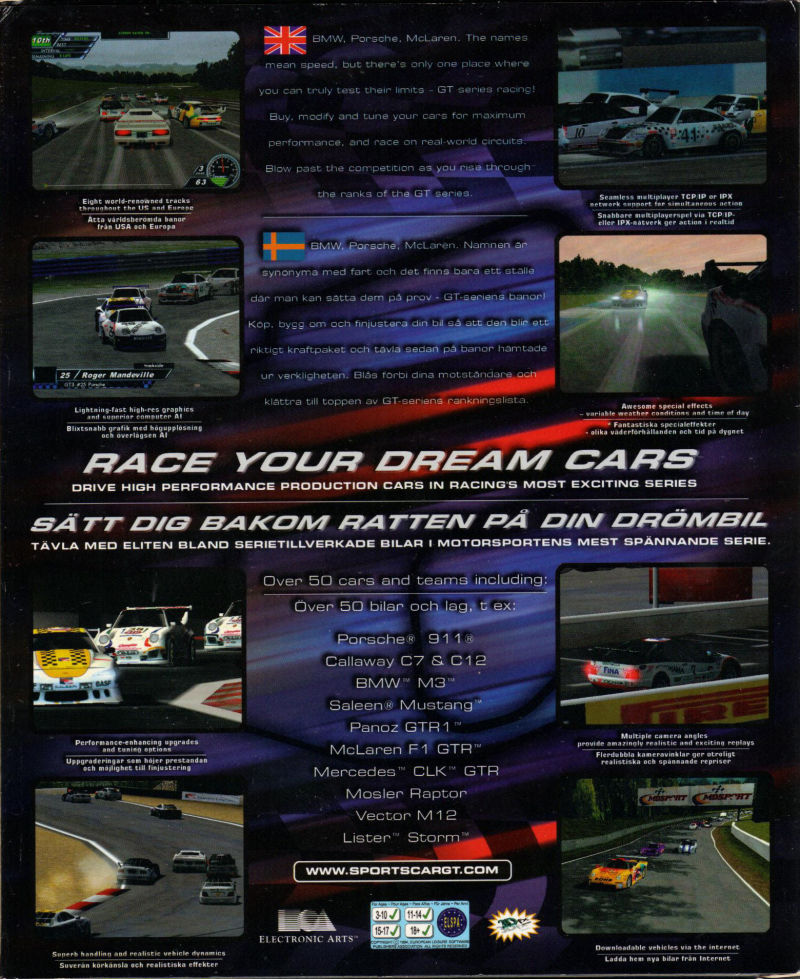 Sports Car GT PlayStation Box Cover Art MobyGames - Sports cars gt