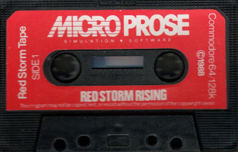 Red Storm Rising Commodore 64 Media - Red Storm Tape