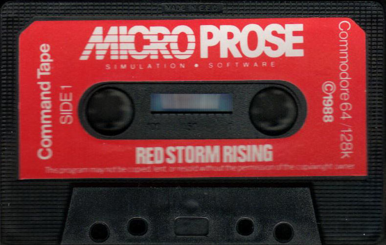 Red Storm Rising Commodore 64 Media - Command Tape