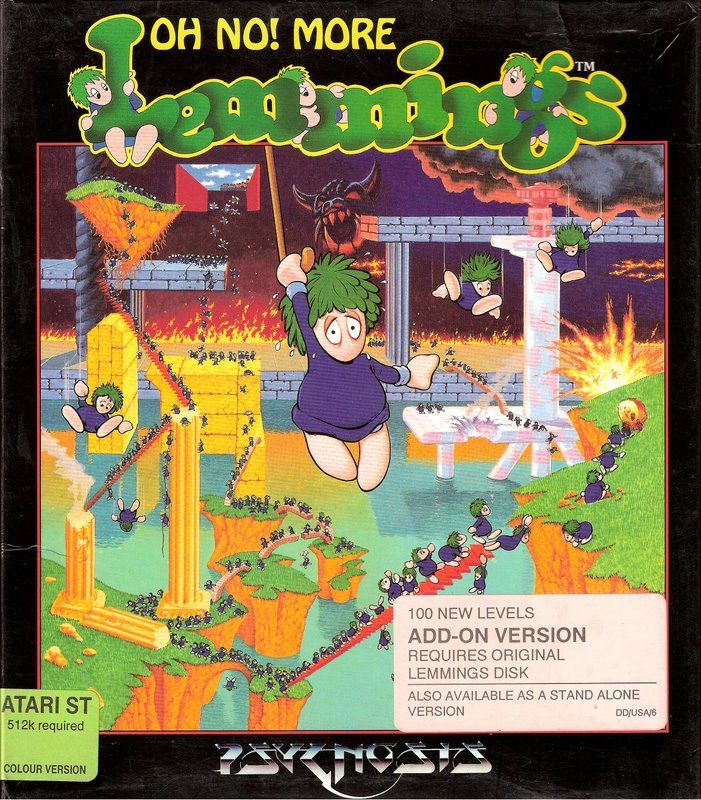 Oh No! More Lemmings Atari ST Front Cover