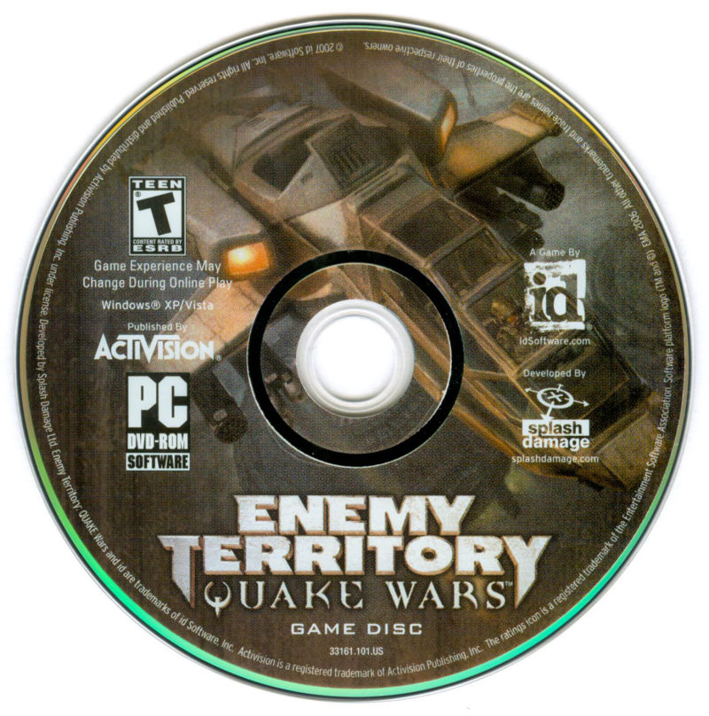 Enemy Territory: Quake Wars (Limited Collector's Edition) Windows Media Disc 1
