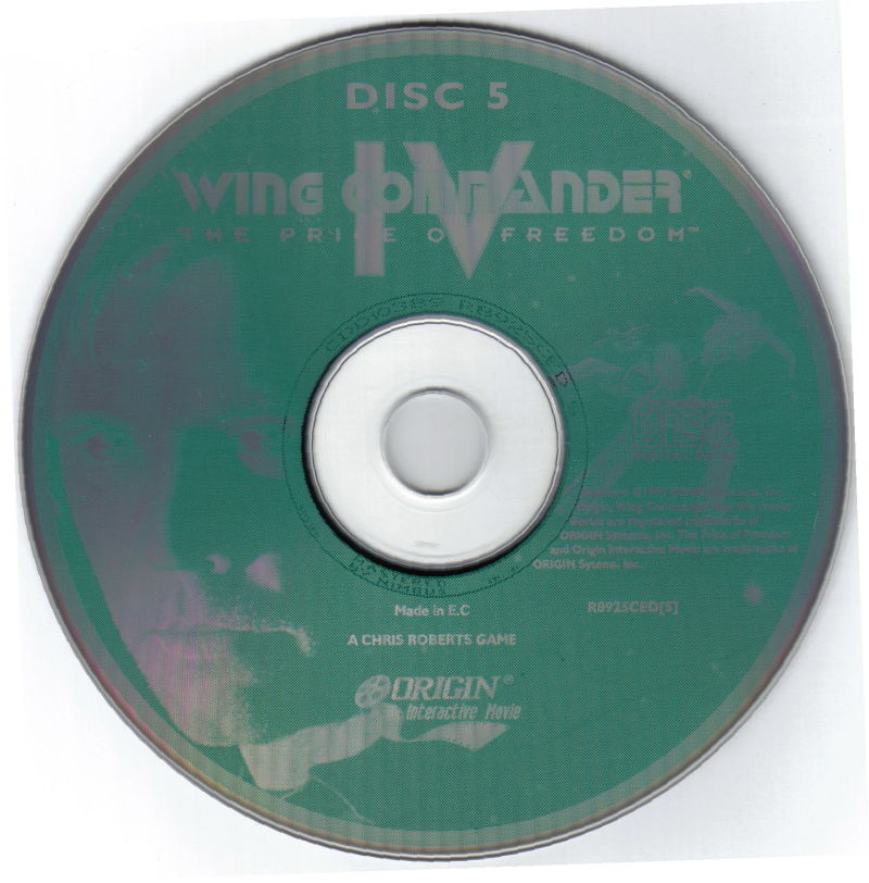 Wing Commander IV: The Price of Freedom DOS Media Disc 5