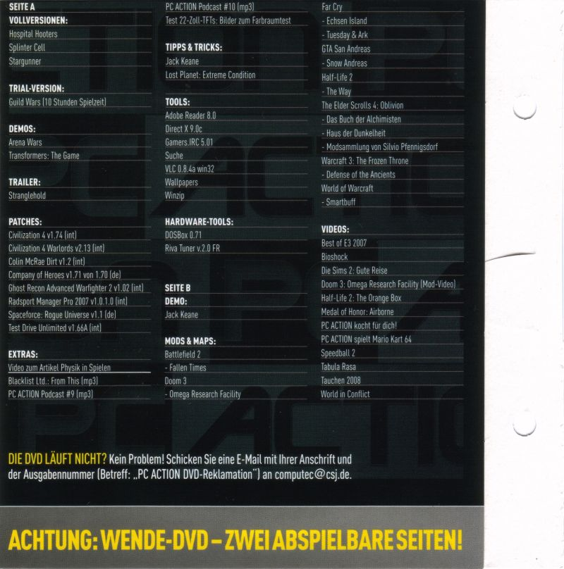 Tom Clancy's Splinter Cell Windows Back Cover