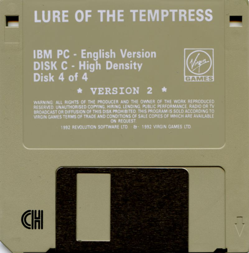 Lure of the Temptress DOS Media Disk 4/4