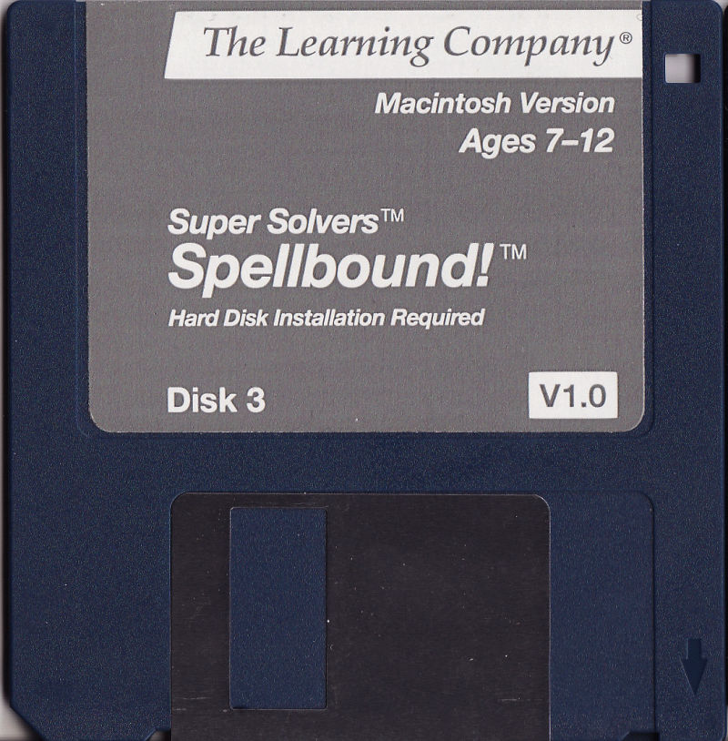 Super Solvers: Spellbound! Macintosh Media Gray disk