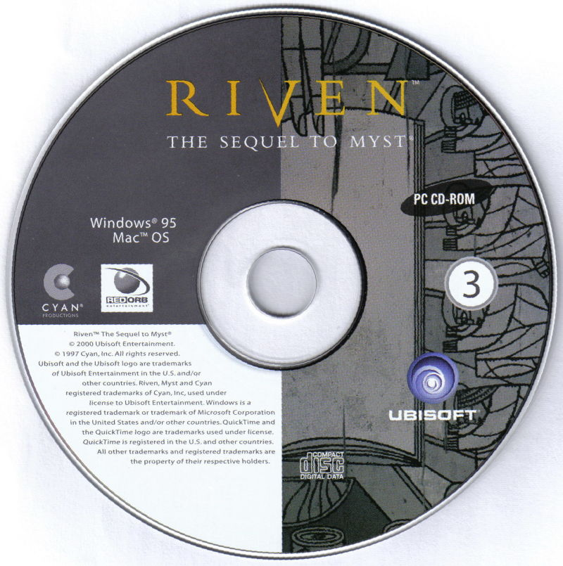 Riven: The Sequel to Myst Macintosh Media Disc 3