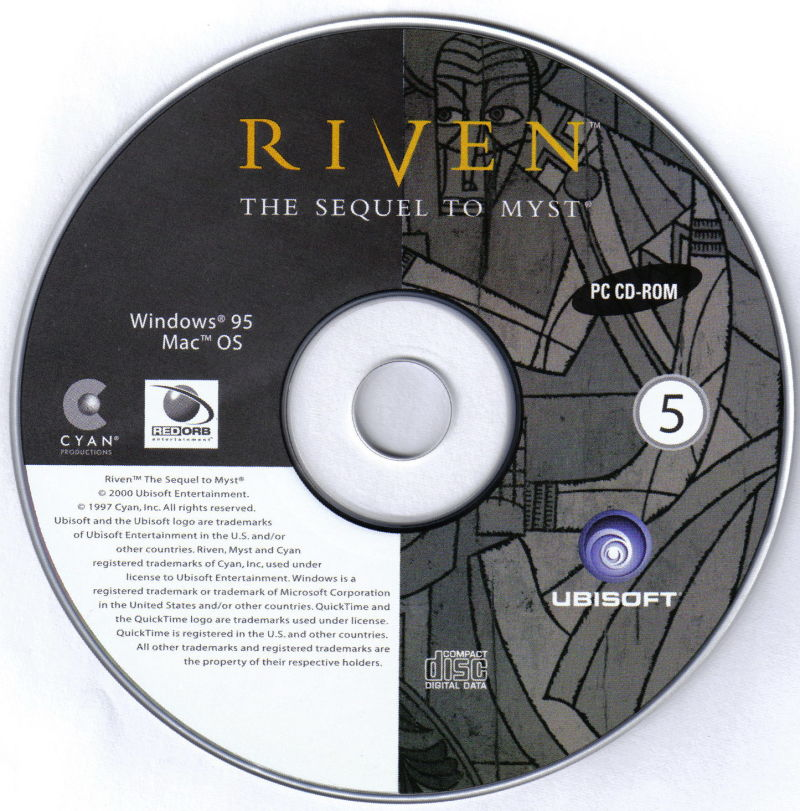 Riven: The Sequel to Myst Macintosh Media Disc 5