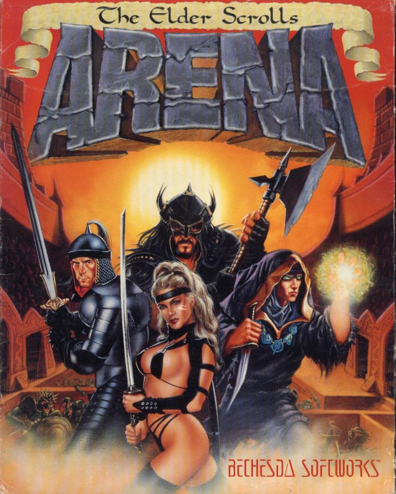 The Elder Scrolls: Arena DOS Front Cover