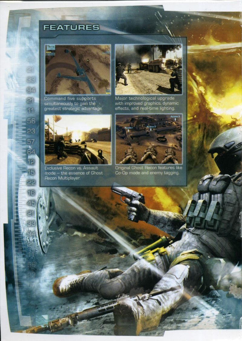 Tom Clancy's Ghost Recon: Advanced Warfighter 2 Windows Inside Cover Left Flap