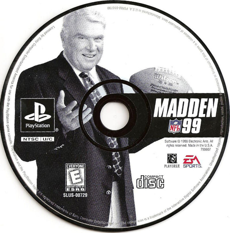 Madden NFL 99 PlayStation Media