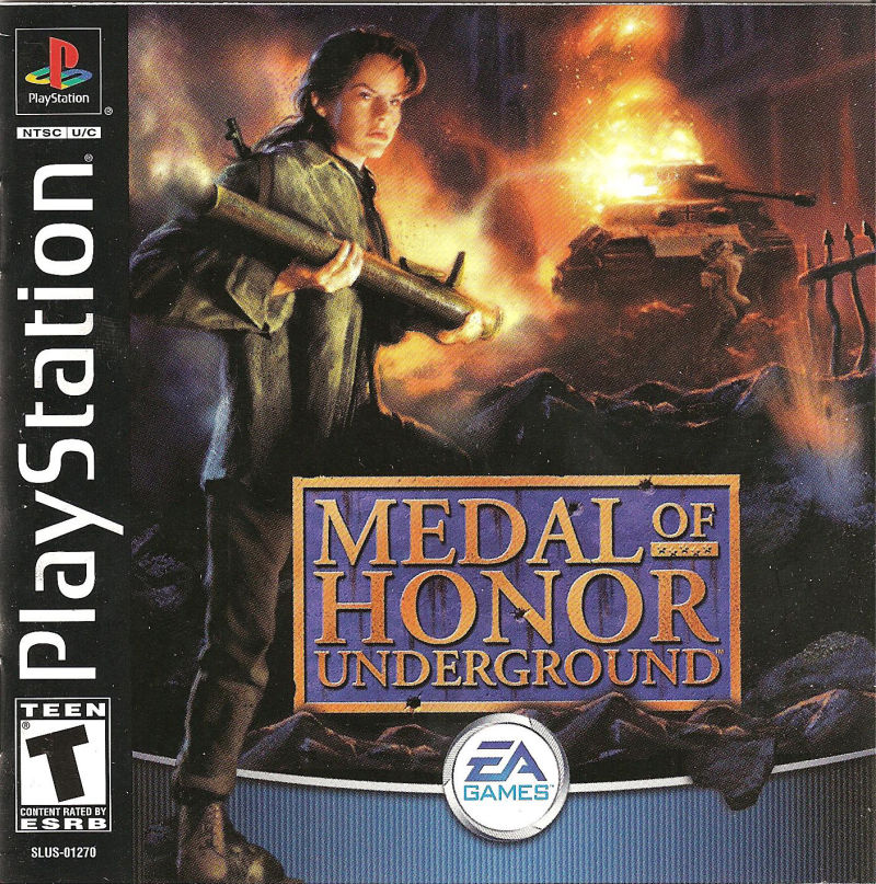 Medal of Honor: Underground PlayStation Front Cover