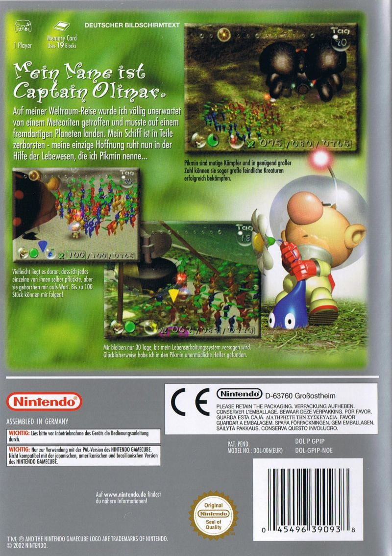 Pikmin 2001 Gamecube Box Cover Art Mobygames