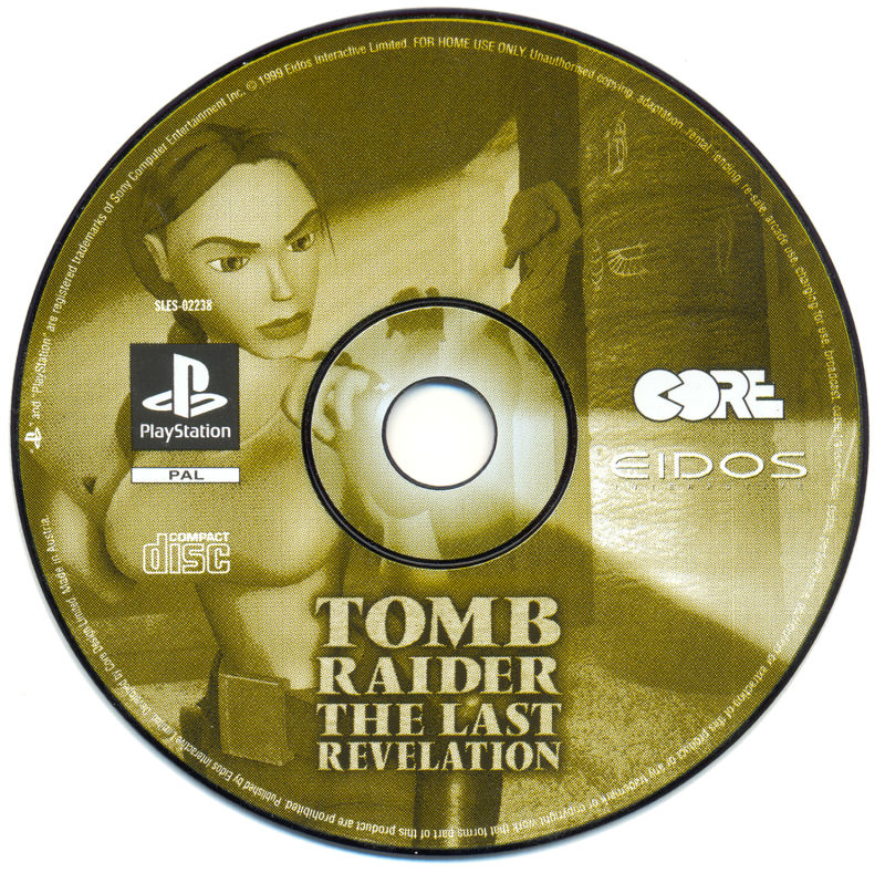 Tomb Raider The Last Revelation 1999 Playstation Box Cover Art