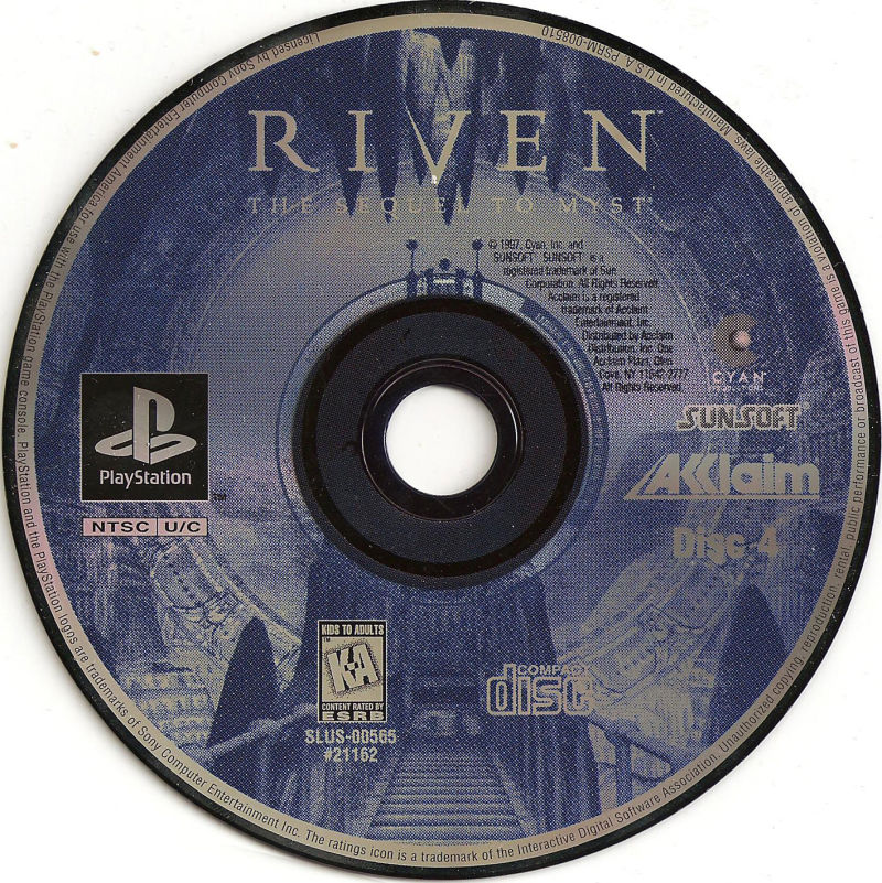 Riven: The Sequel to Myst PlayStation Media Disc 4