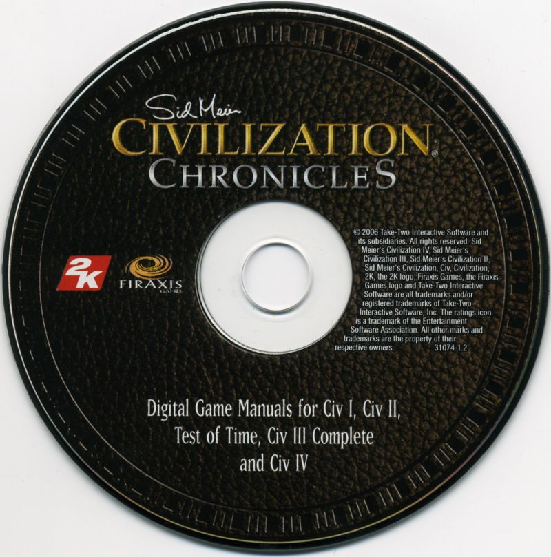 Sid Meier's Civilization Chronicles Windows Media Manuals Disc