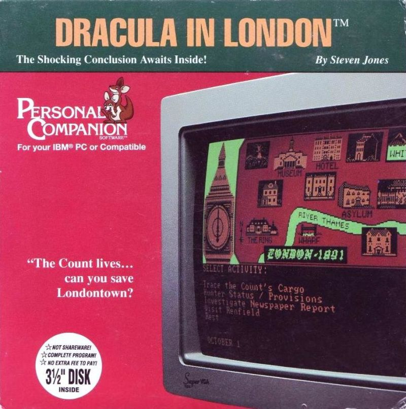 Dracula in London DOS Front Cover