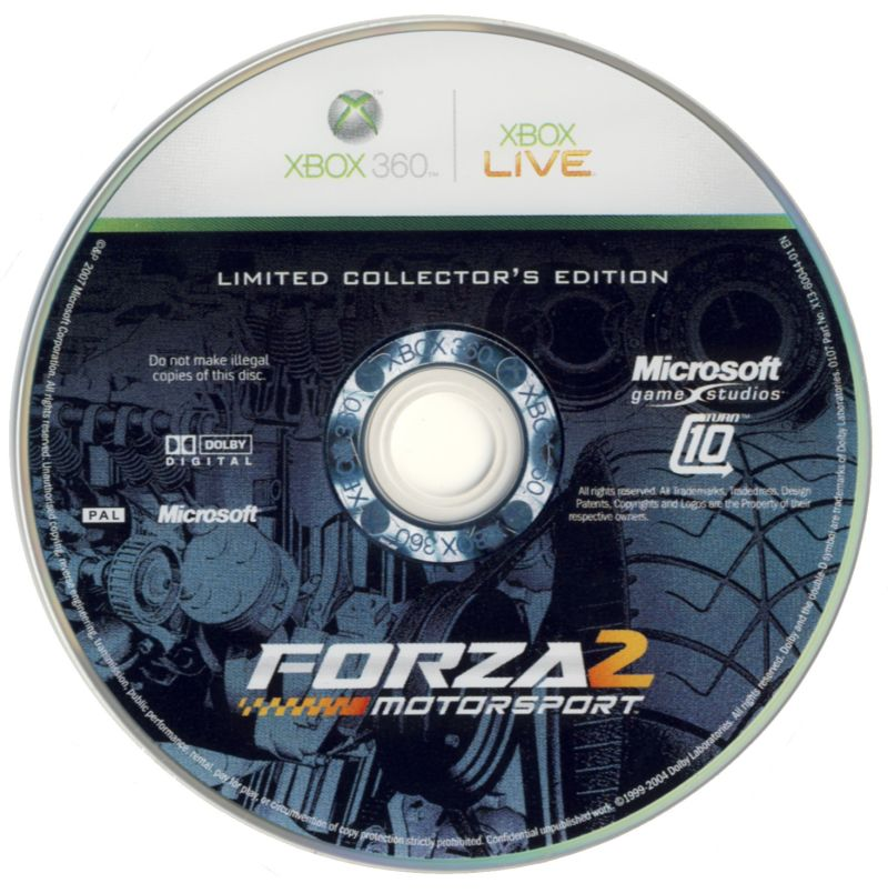 Forza Motorsport 2 (Limited Collector's Edition) Xbox 360 Media