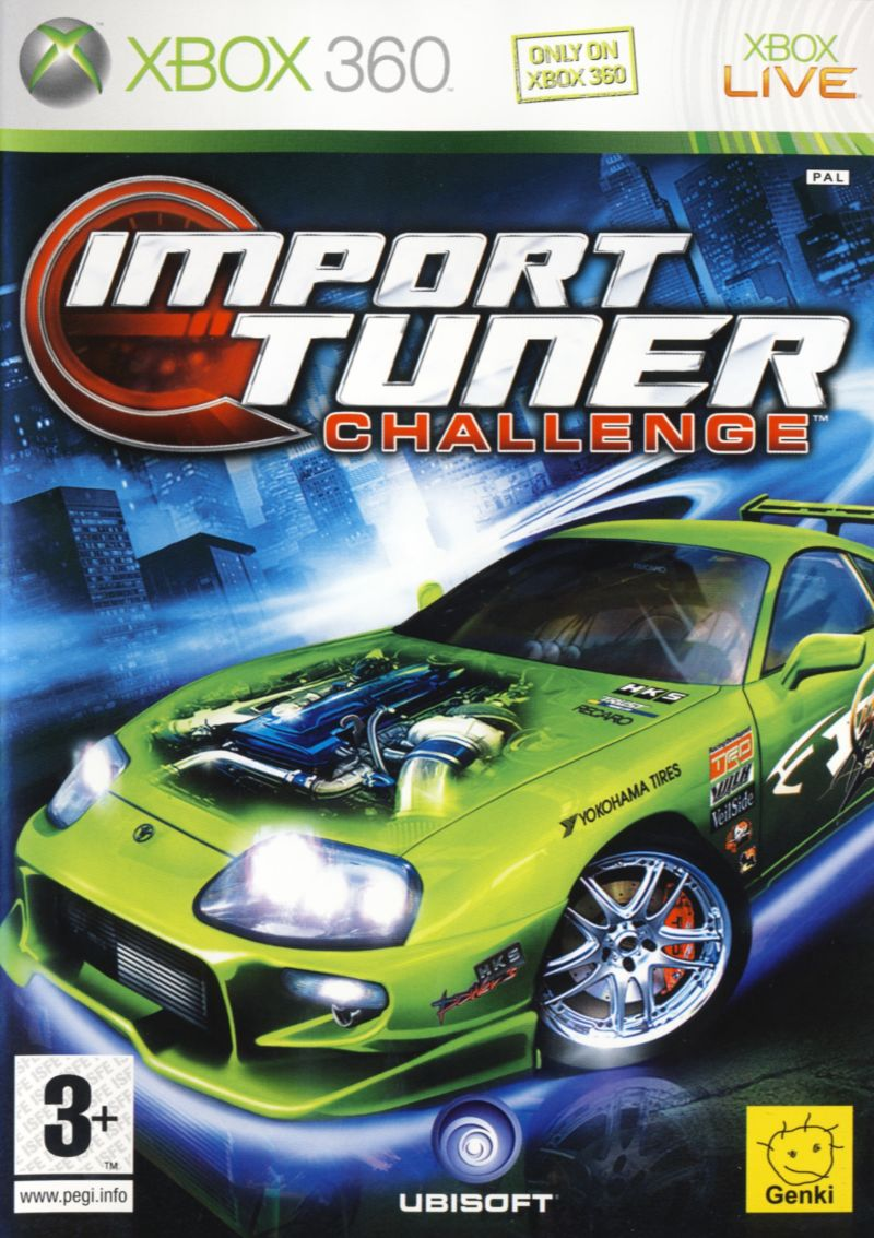 Import Tuner Challenge Xbox 360 Front Cover