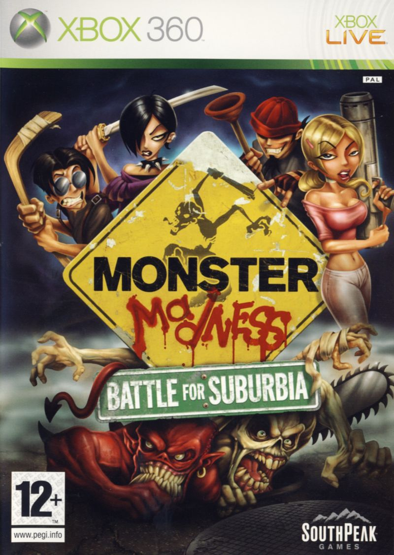 Monster Madness: Battle for Suburbia Xbox 360 Front Cover