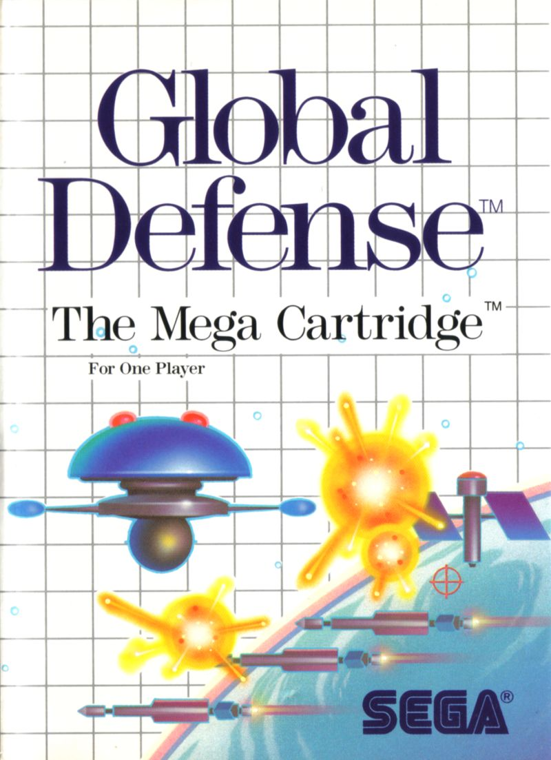 SDI: Strategic Defense Initiative SEGA Master System Front Cover
