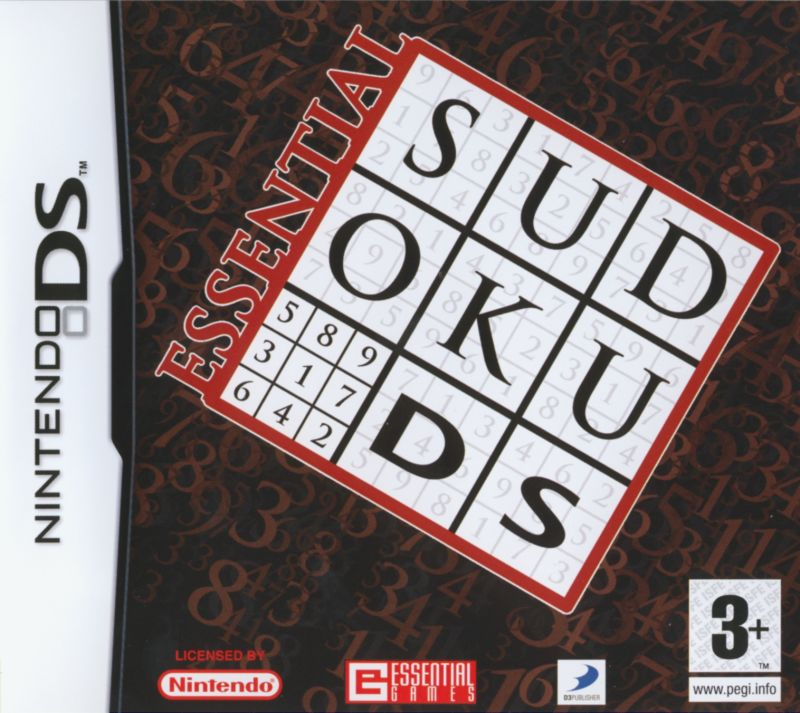 Essential Sudoku DS Nintendo DS Front Cover