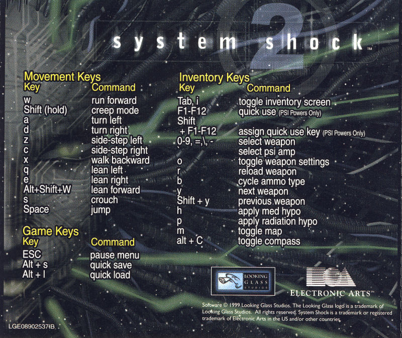 System Shock 2 Windows Other Jewel Case - Back