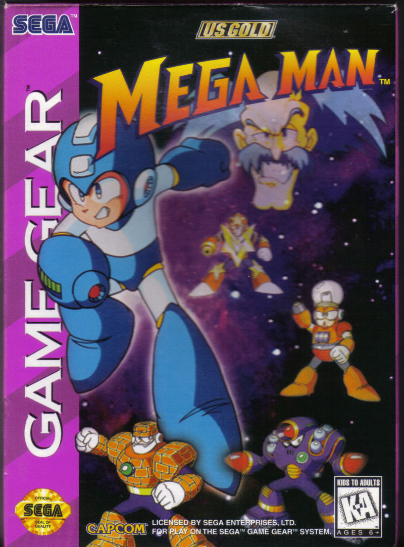 Mega Man Game Gear Front Cover