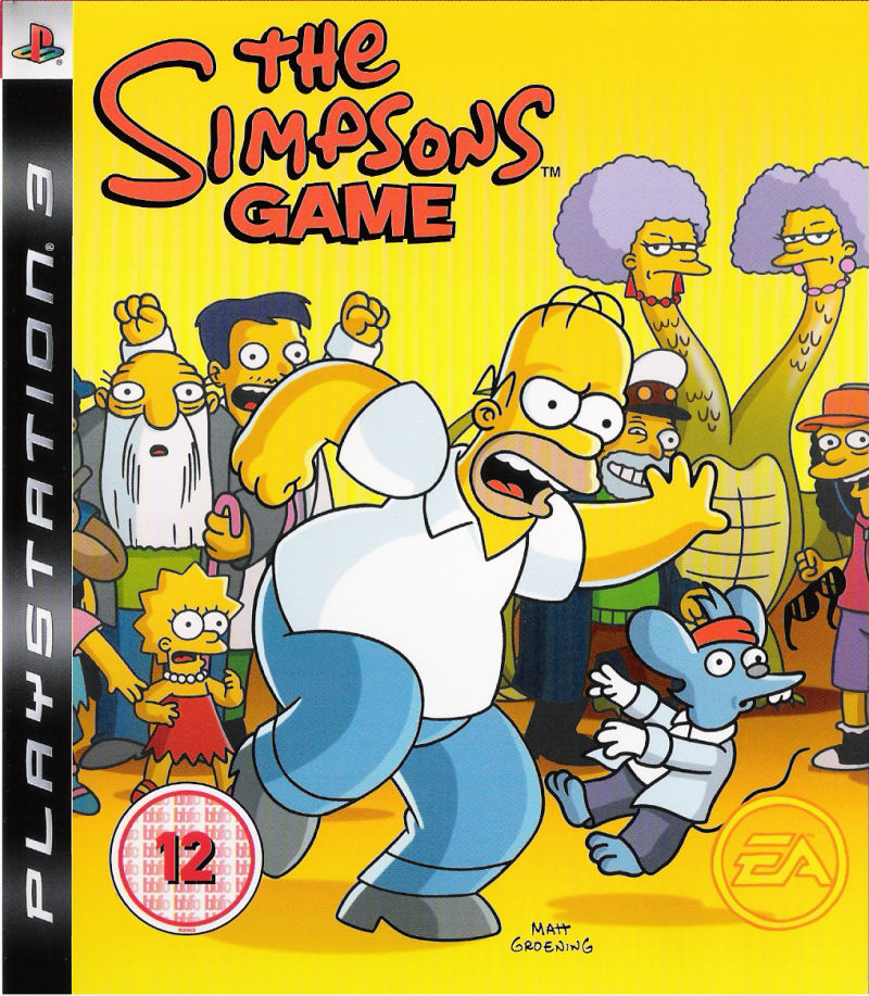 The Simpsons Game PlayStation 3 Front Cover