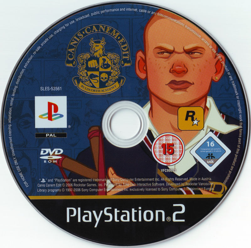 Bully PlayStation 2 Media