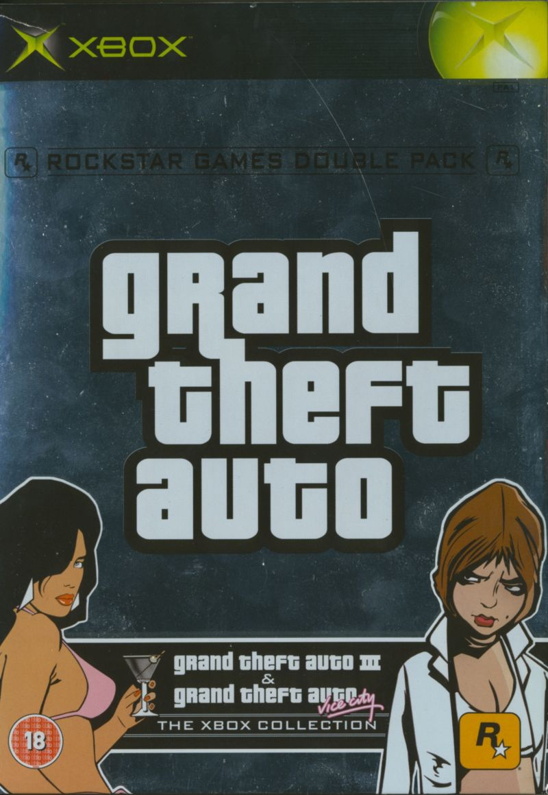 Rockstar Games Double Pack: Grand Theft Auto Xbox Front Cover