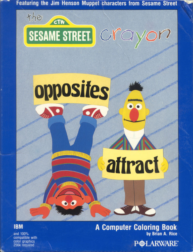 The Sesame Street Crayon: Opposites Attract DOS Front Cover